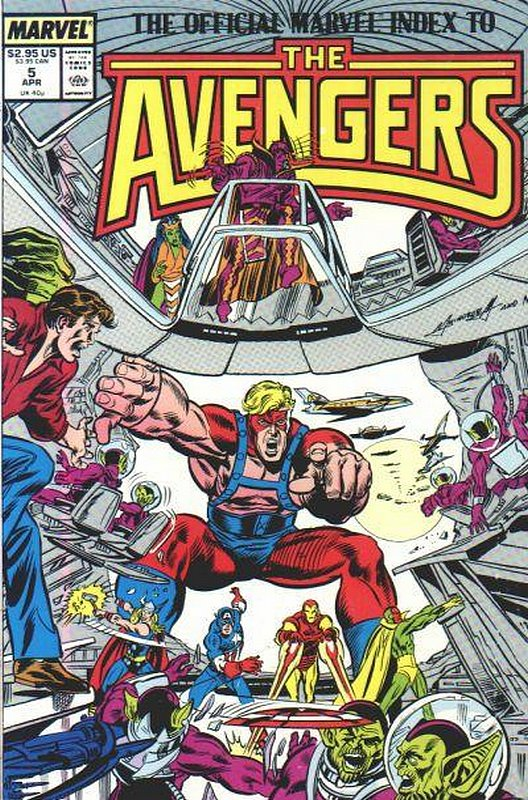 Cover of Avengers: Official Marvel Index (Vol 1) #5. One of 250,000 Vintage American Comics on sale from Krypton!