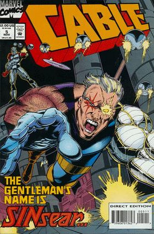 Cover of Cable (Vol 1) #5. One of 250,000 Vintage American Comics on sale from Krypton!
