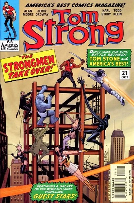 Cover of Tom Strong (Vol 1) #21. One of 250,000 Vintage American Comics on sale from Krypton!