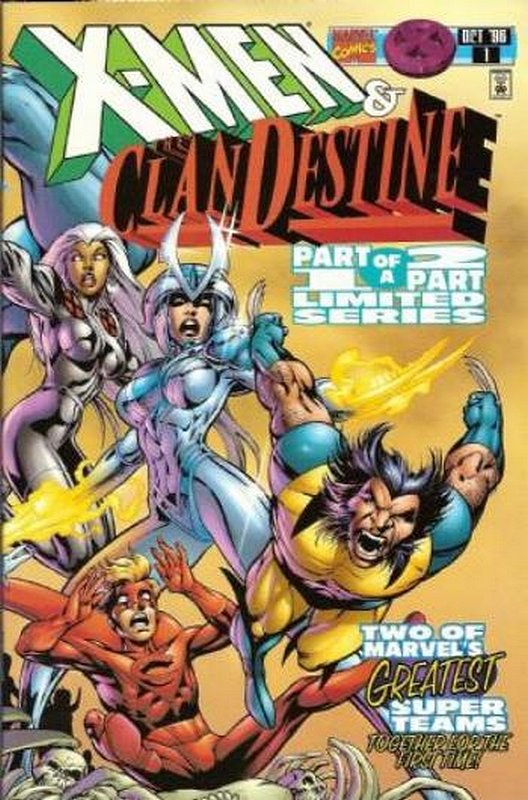 Cover of X-Men/ClanDestine (1996 Ltd) #1. One of 250,000 Vintage American Comics on sale from Krypton!