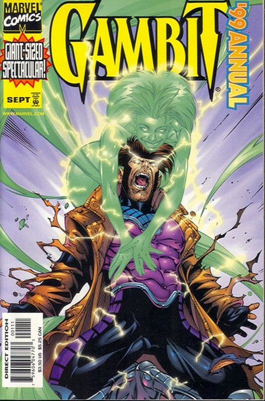 Cover of Gambit Annual (Vol 1) #1999. One of 250,000 Vintage American Comics on sale from Krypton!