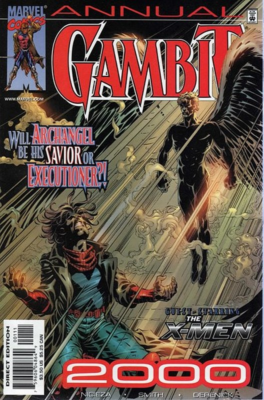 Cover of Gambit Annual (Vol 1) #2000. One of 250,000 Vintage American Comics on sale from Krypton!