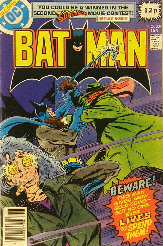 Cover of Batman #307. One of 250,000 Vintage American Comics on sale from Krypton!