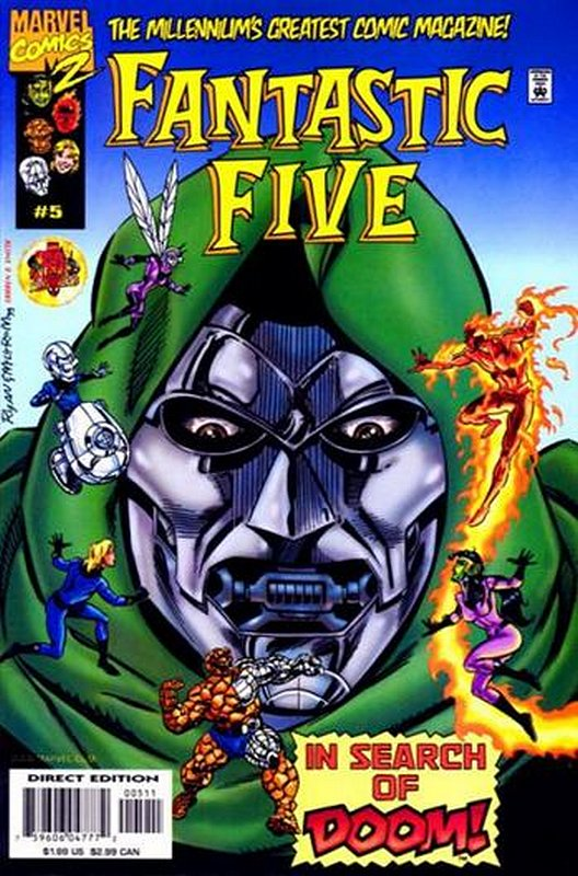 Cover of Fantastic Five (Vol 1) #5. One of 250,000 Vintage American Comics on sale from Krypton!