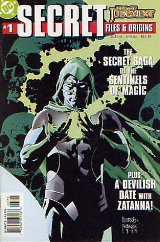 Cover of Day of Judgement Secret Files (1999 One Shot) #1. One of 250,000 Vintage American Comics on sale from Krypton!
