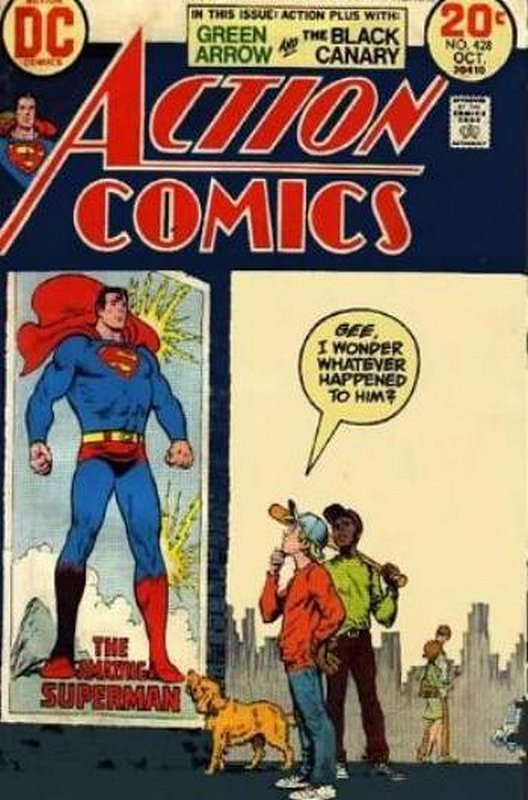 Cover of Action Comics #428. One of 250,000 Vintage American Comics on sale from Krypton!