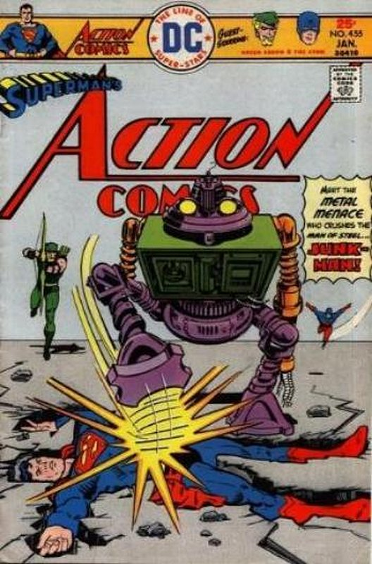 Cover of Action Comics (Vol 1) #455. One of 250,000 Vintage American Comics on sale from Krypton!