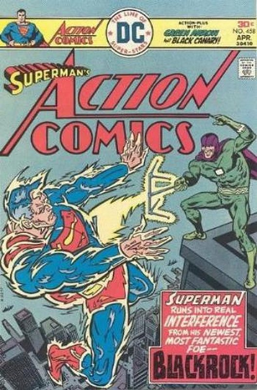 Cover of Action Comics (Vol 1) #458. One of 250,000 Vintage American Comics on sale from Krypton!