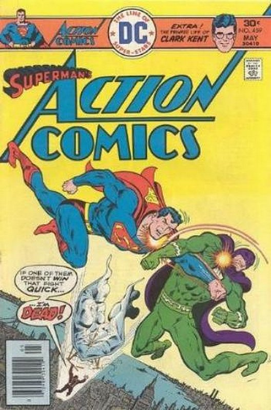 Cover of Action Comics (Vol 1) #459. One of 250,000 Vintage American Comics on sale from Krypton!