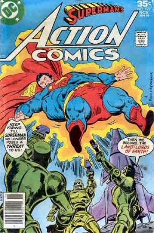 Cover of Action Comics (Vol 1) #477. One of 250,000 Vintage American Comics on sale from Krypton!