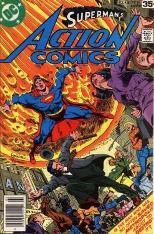 Cover of Action Comics (Vol 1) #480. One of 250,000 Vintage American Comics on sale from Krypton!