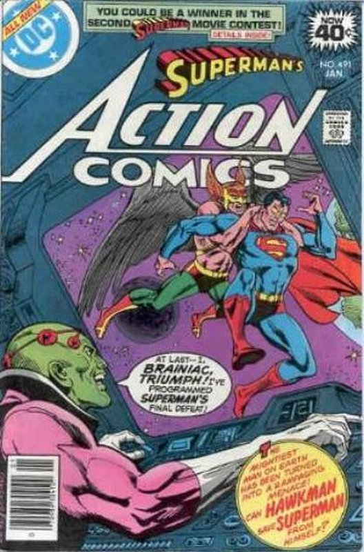 Cover of Action Comics (Vol 1) #491. One of 250,000 Vintage American Comics on sale from Krypton!