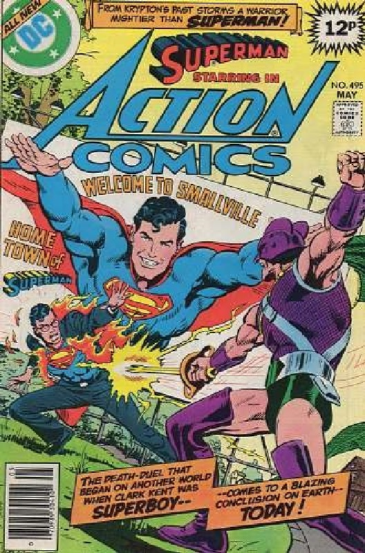 Cover of Action Comics #495. One of 250,000 Vintage American Comics on sale from Krypton!