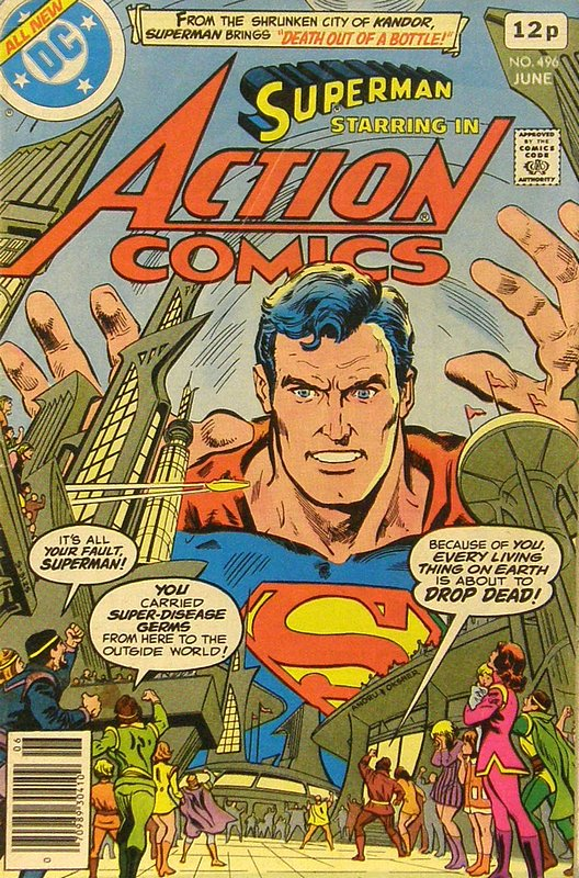 Cover of Action Comics #496. One of 250,000 Vintage American Comics on sale from Krypton!