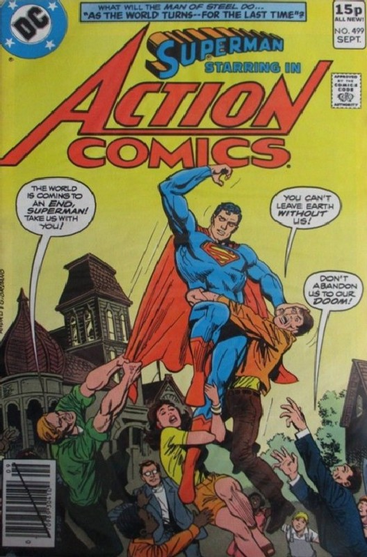 Cover of Action Comics #499. One of 250,000 Vintage American Comics on sale from Krypton!