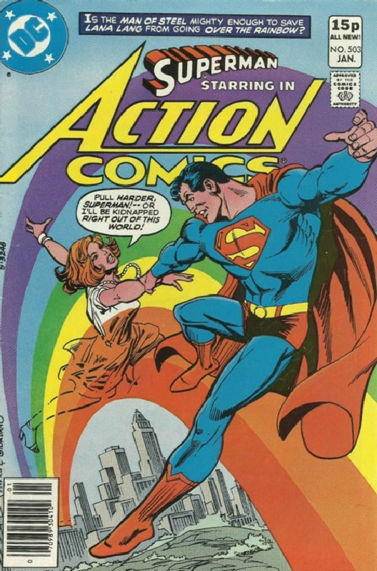 Cover of Action Comics #503. One of 250,000 Vintage American Comics on sale from Krypton!