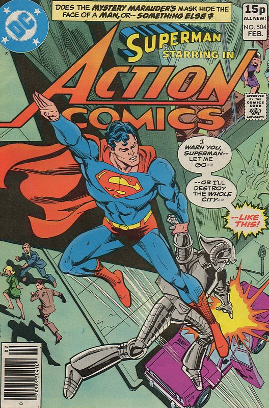 Cover of Action Comics #504. One of 250,000 Vintage American Comics on sale from Krypton!