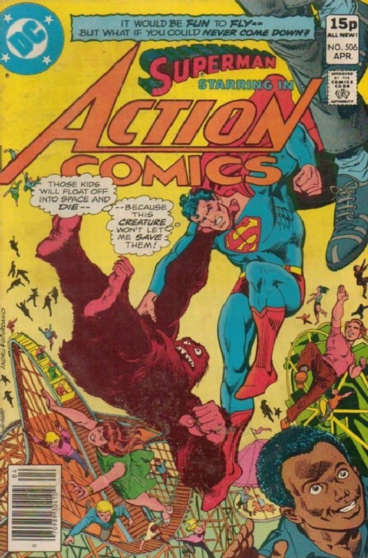 Cover of Action Comics #506. One of 250,000 Vintage American Comics on sale from Krypton!