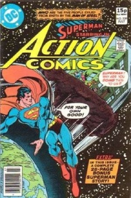 Cover of Action Comics #509. One of 250,000 Vintage American Comics on sale from Krypton!