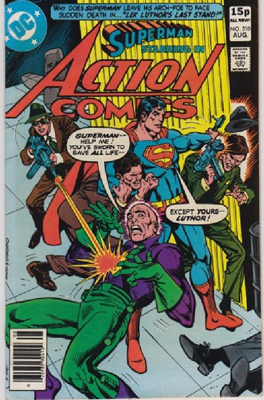 Cover of Action Comics #510. One of 250,000 Vintage American Comics on sale from Krypton!