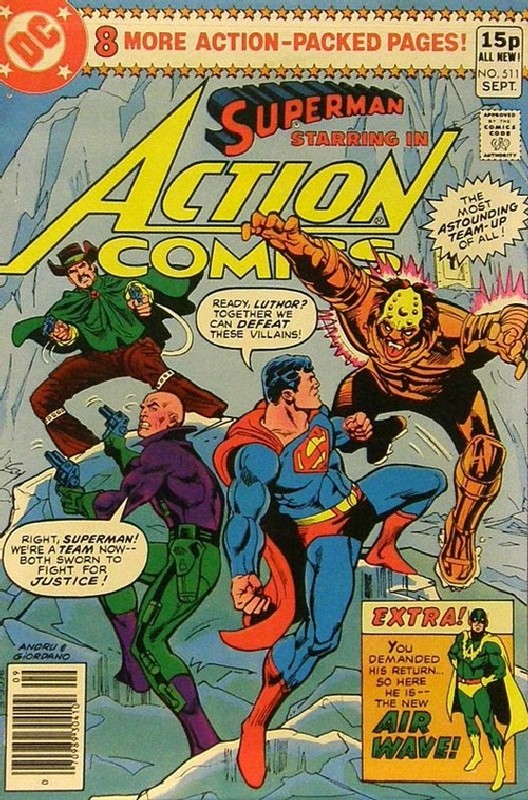 Cover of Action Comics #511. One of 250,000 Vintage American Comics on sale from Krypton!