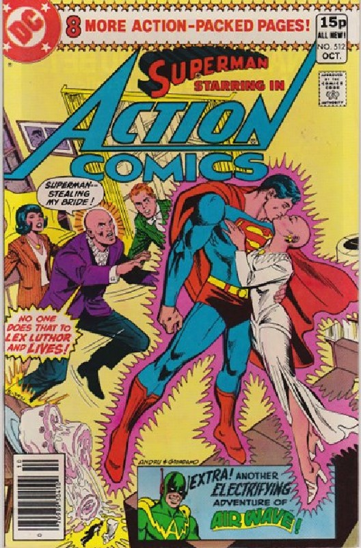 Cover of Action Comics #512. One of 250,000 Vintage American Comics on sale from Krypton!
