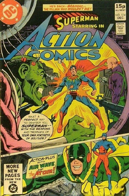 Cover of Action Comics #514. One of 250,000 Vintage American Comics on sale from Krypton!