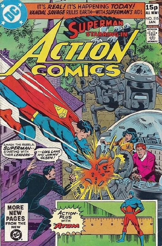 Cover of Action Comics #515. One of 250,000 Vintage American Comics on sale from Krypton!