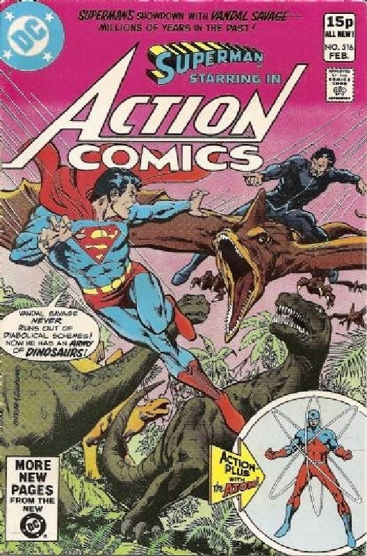 Cover of Action Comics #516. One of 250,000 Vintage American Comics on sale from Krypton!