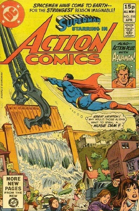 Cover of Action Comics #518. One of 250,000 Vintage American Comics on sale from Krypton!