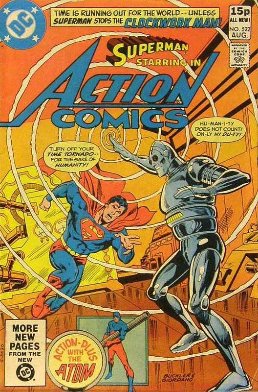 Cover of Action Comics #522. One of 250,000 Vintage American Comics on sale from Krypton!