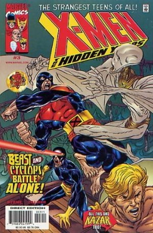 Cover of X-Men: The Hidden Years (Vol 1) #3. One of 250,000 Vintage American Comics on sale from Krypton!