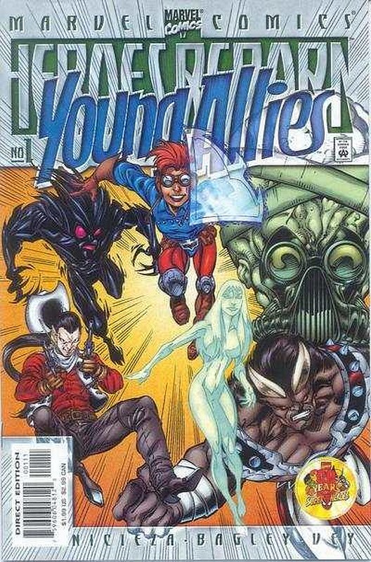 Cover of Heroes Reborn: Young Allies (1999 One Shot) #1. One of 250,000 Vintage American Comics on sale from Krypton!
