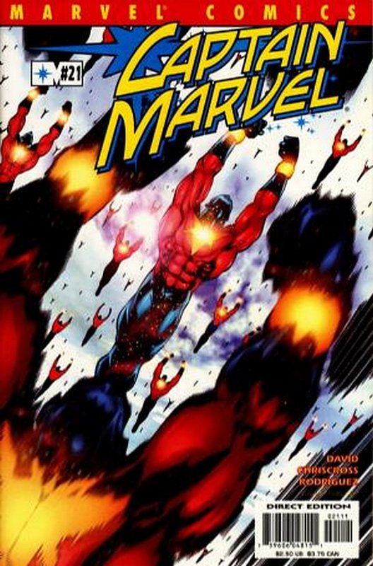 Cover of Captain Marvel (Vol 3) #21. One of 250,000 Vintage American Comics on sale from Krypton!