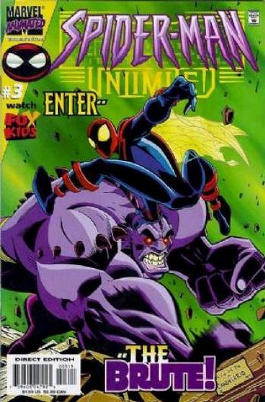 Cover of Spider-Man Unlimited (Vol 2) #3. One of 250,000 Vintage American Comics on sale from Krypton!