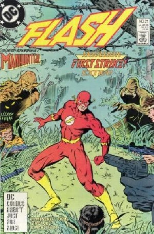 Cover of Flash (Vol 2) #21. One of 250,000 Vintage American Comics on sale from Krypton!