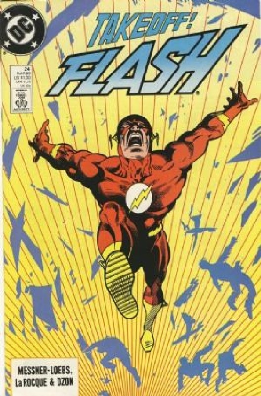 Cover of Flash (Vol 2) #24. One of 250,000 Vintage American Comics on sale from Krypton!