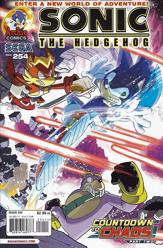 Cover of Sonic the Hedgehog #254. One of 250,000 Vintage American Comics on sale from Krypton!