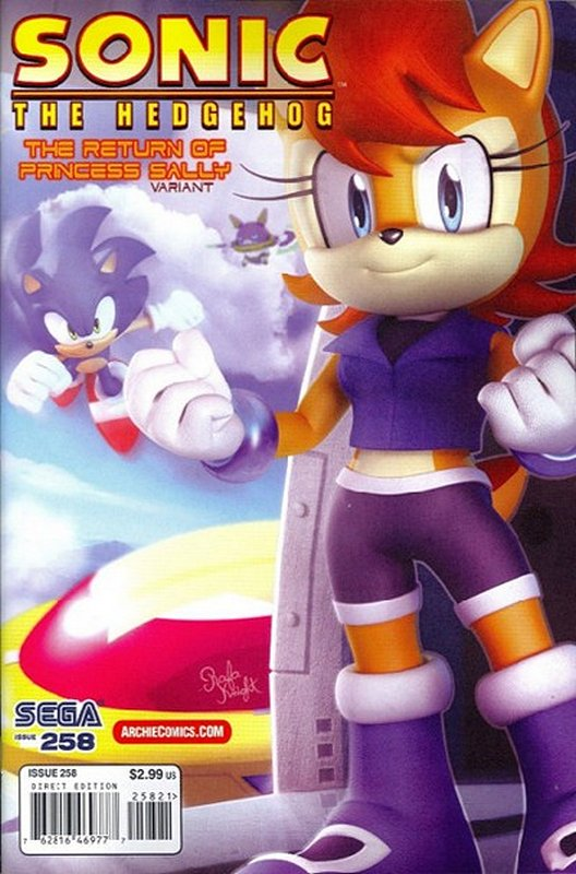 Cover of Sonic the Hedgehog #258. One of 250,000 Vintage American Comics on sale from Krypton!