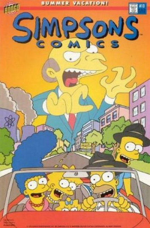 Cover of Simpsons Comics #10. One of 250,000 Vintage American Comics on sale from Krypton!