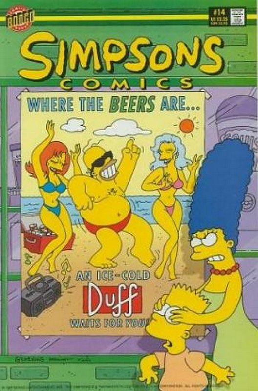 Cover of Simpsons Comics #14. One of 250,000 Vintage American Comics on sale from Krypton!