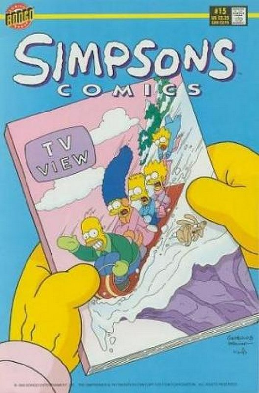 Cover of Simpsons Comics #15. One of 250,000 Vintage American Comics on sale from Krypton!