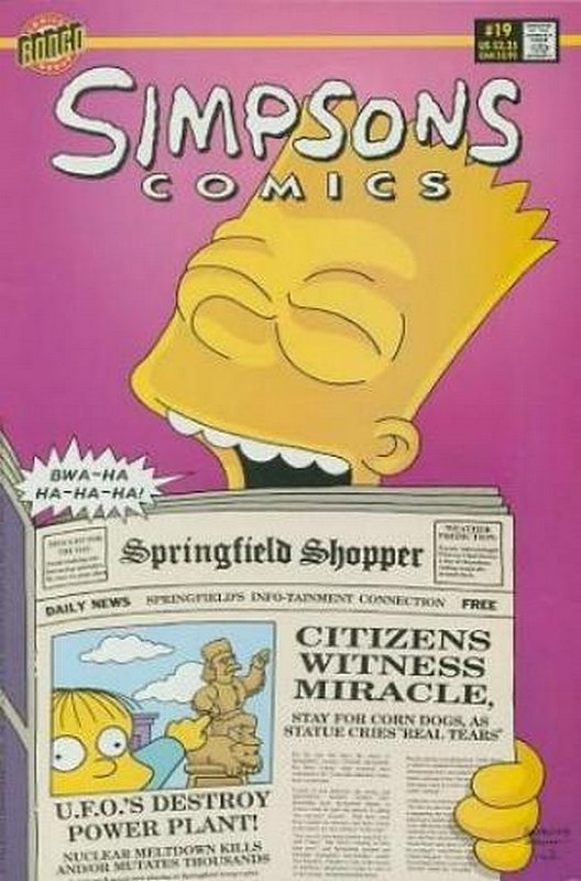 Cover of Simpsons Comics #19. One of 250,000 Vintage American Comics on sale from Krypton!