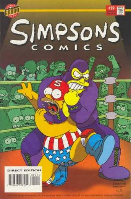 Cover of Simpsons Comics #29. One of 250,000 Vintage American Comics on sale from Krypton!