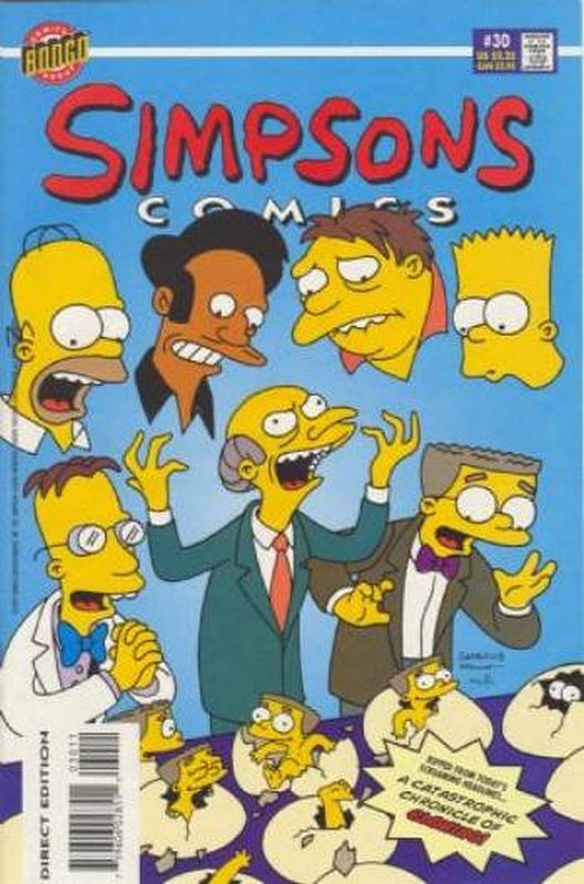 Cover of Simpsons Comics #30. One of 250,000 Vintage American Comics on sale from Krypton!
