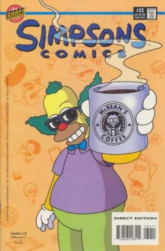 Cover of Simpsons Comics #32. One of 250,000 Vintage American Comics on sale from Krypton!