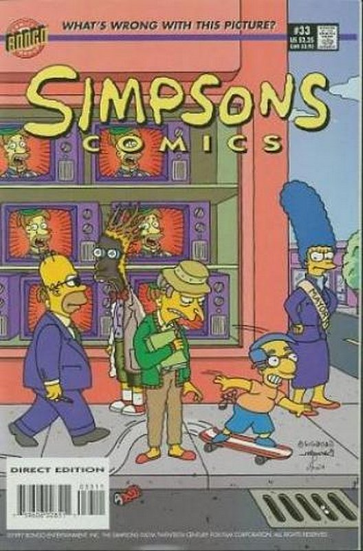 Cover of Simpsons Comics #33. One of 250,000 Vintage American Comics on sale from Krypton!