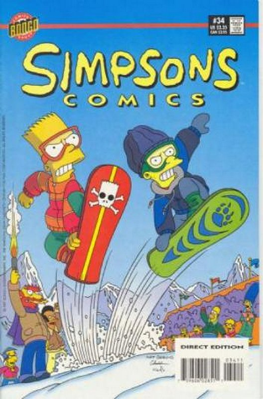 Cover of Simpsons Comics #34. One of 250,000 Vintage American Comics on sale from Krypton!