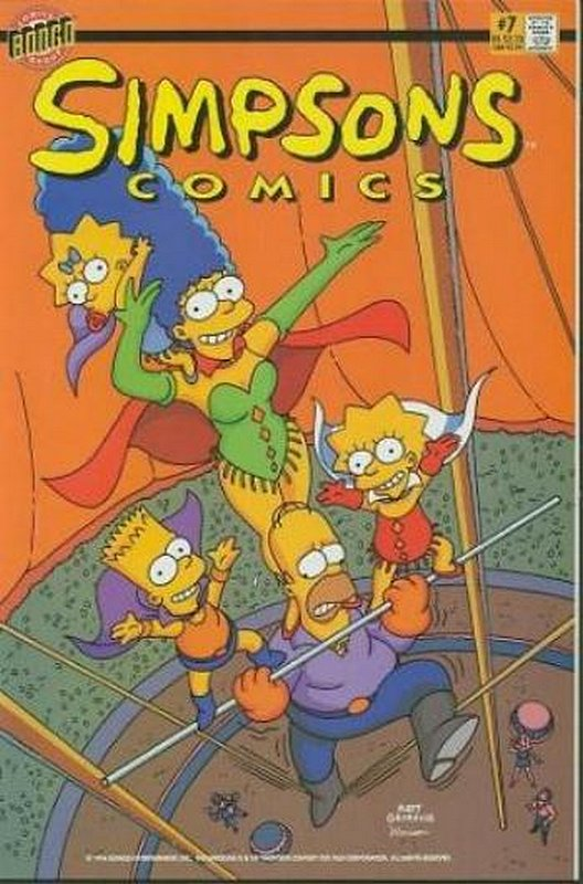 Cover of Simpsons Comics #7. One of 250,000 Vintage American Comics on sale from Krypton!