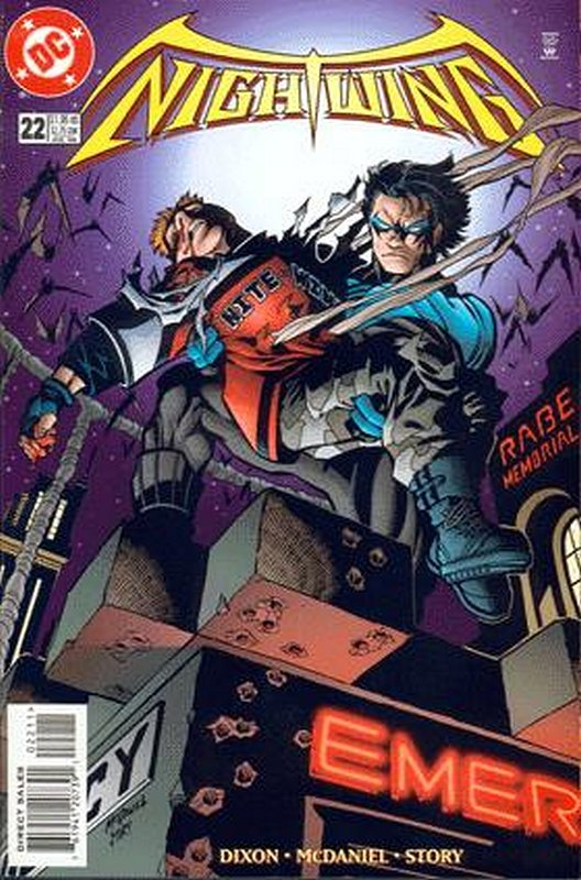 Cover of Nightwing (Vol 1) #22. One of 250,000 Vintage American Comics on sale from Krypton!